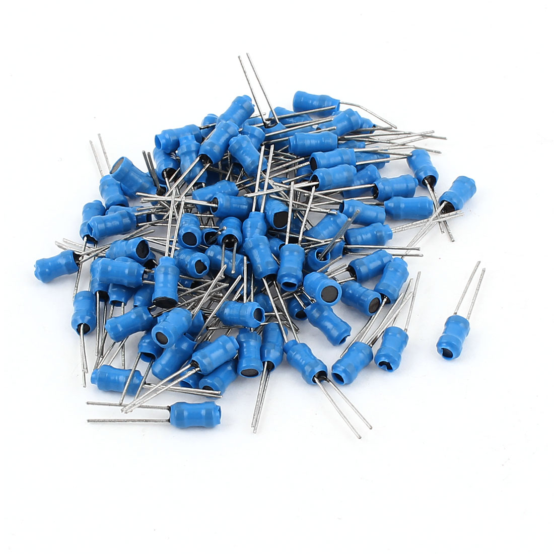 100Pcs 30mH 50mA 4x6mm 10% Tolerance Radial Lead Inductor Blue
