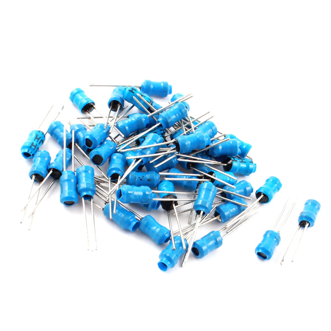 50Pcs 20MH 100mA 10% 4x6mm UL-polyolefin Metal Radial Leads Power Inducers Magnetic Core Inductors Blue