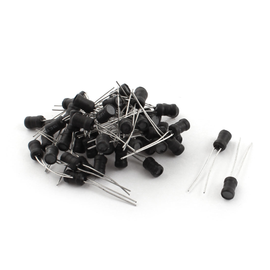 50 Pcs 4.7mH 100mA 10% Tolerance Radial Lead Type Through Hole Coil Choke Inductor 5mm x 6mm