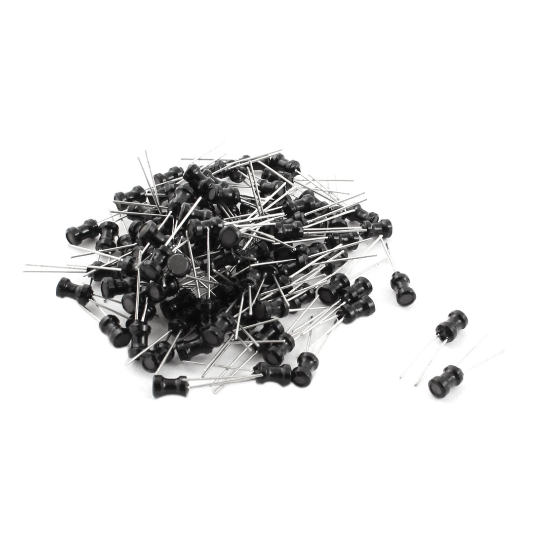 100Pcs Through Hole 1mH 100mA 4x6mm 10% Radial Lead Inductor