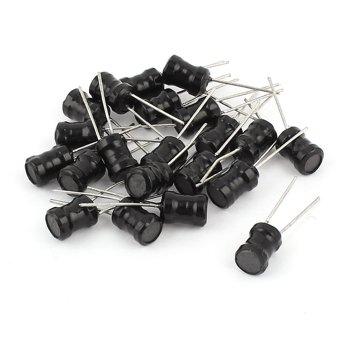 20Pcs Through Hole 47mH 50mA 6x8mm 10% Radial Leads Inductors Black