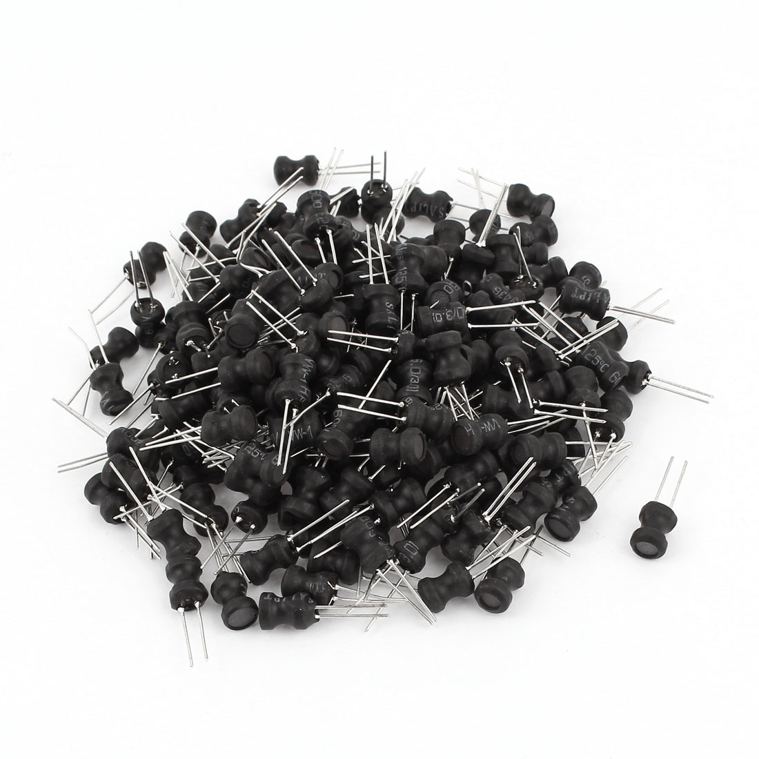 200Pcs Through Hole 3.3uH 1.5A 6x8mm 10% Radial Leads Inductors Black
