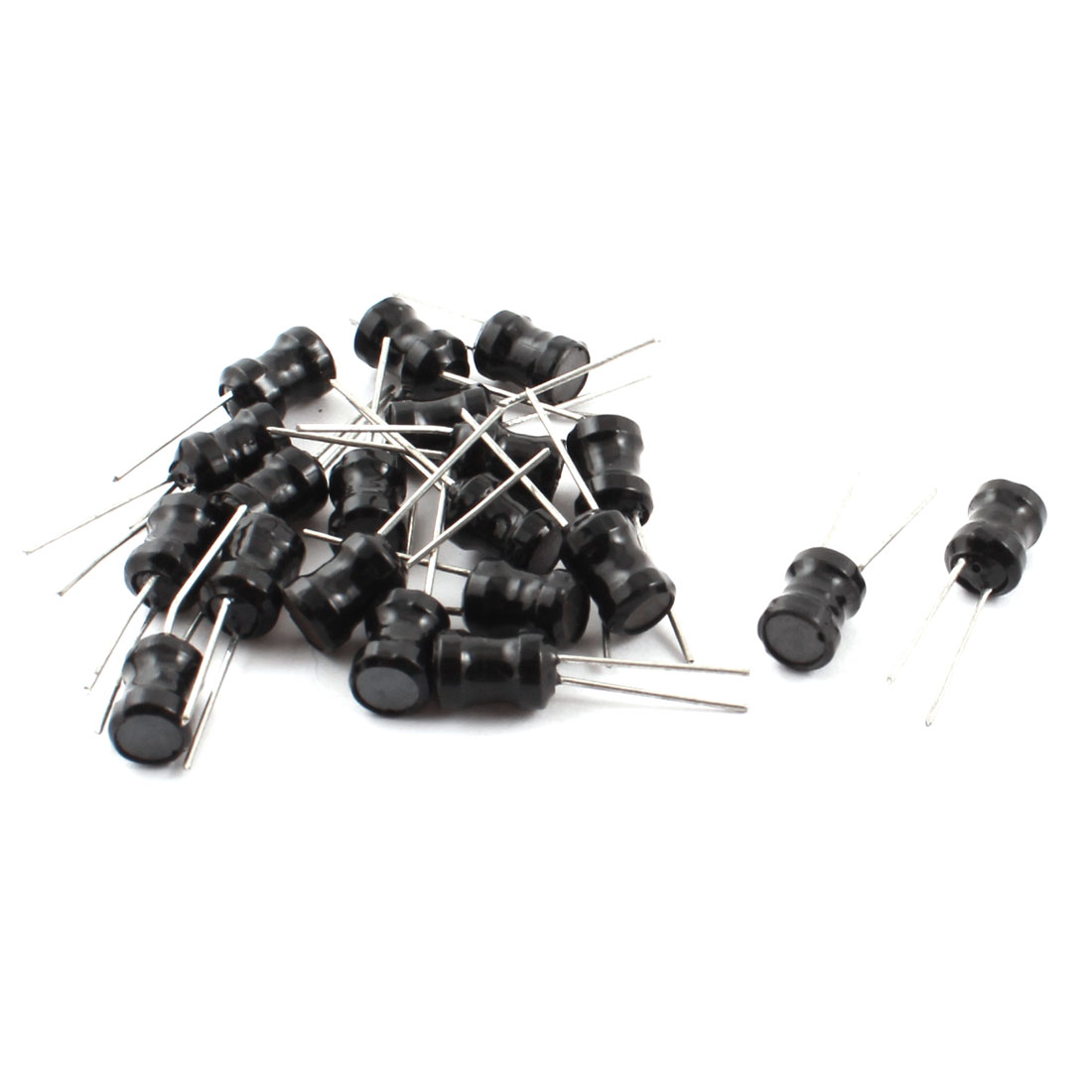 20Pcs 100mH 6x8mm 10% Tolerance Shielded Radial Lead Inductor Black