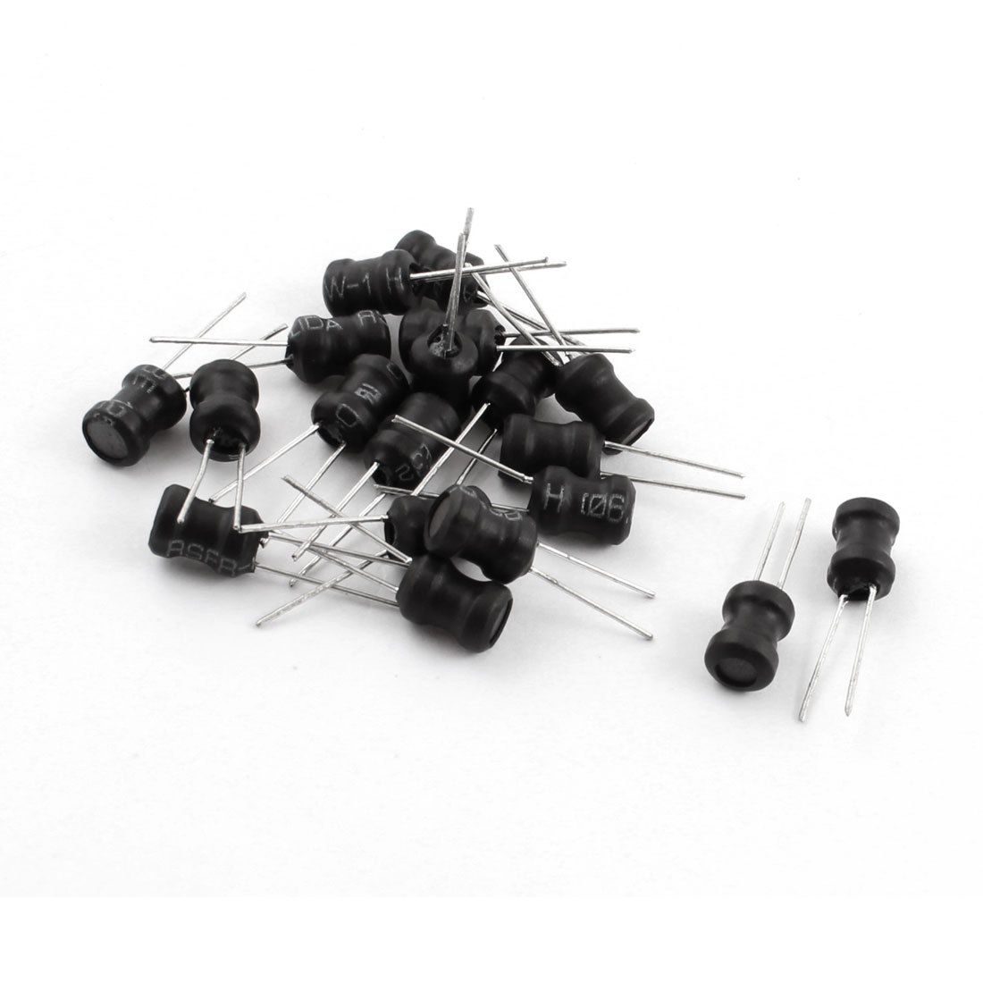 20Pcs 20mH 40mA 6x8mm 10% Tolerance Shielded Radial Lead Inductor Black