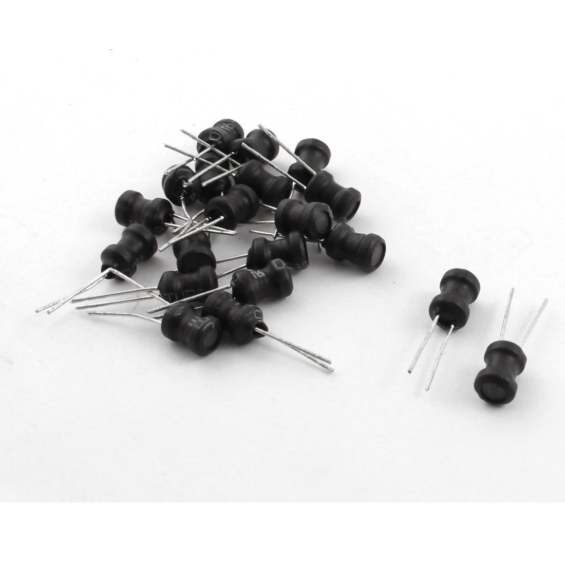 20Pcs 2.2mH 400mA 10% Tolerance Through Hole Radial Lead Type Coil Choke Inductor 6mm x 8mm