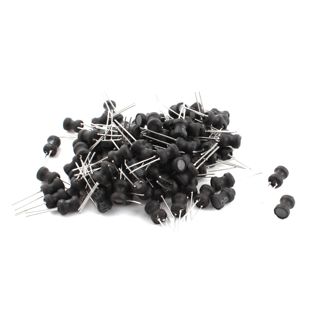 100Pcs 22uH 800mA 6x8mm 10% Tolerance Radial Lead Inductor Black