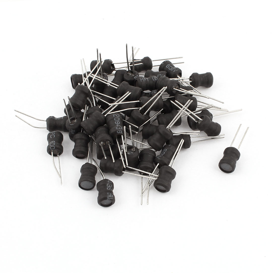50PCS Electric Component 182K 1.8mH 350mA 6x8mm 10% Radial Inductors