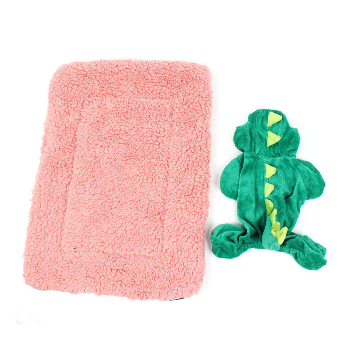 Winter Warm 2 in 1 Pet Dog Cushion Pad Mat w Dinosaur Shape Coat Apparel XXS