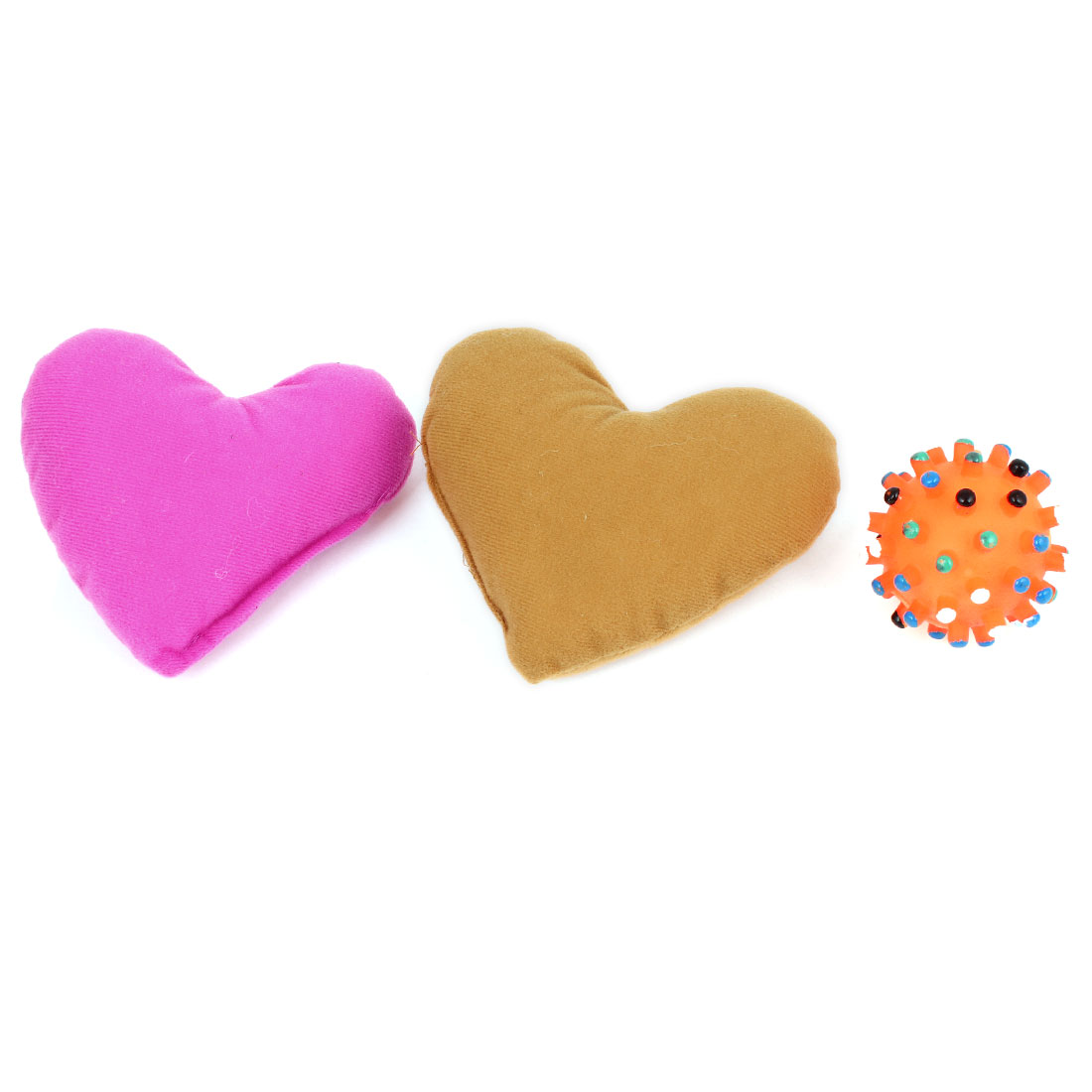 Heart Design Neck Pillow Cushion Squeaky Play Chewing Toy 3 in 1 Set for Pet Dog Doggy
