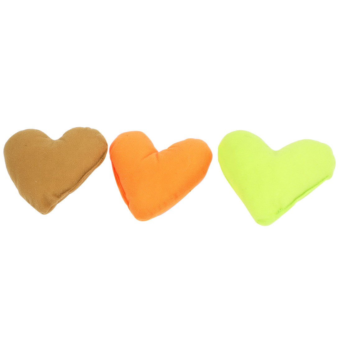 3pcs Coffee Color Green Orange Fleece Heart Design Neck Pillow Cushion Pad for Pet Dog Puppy