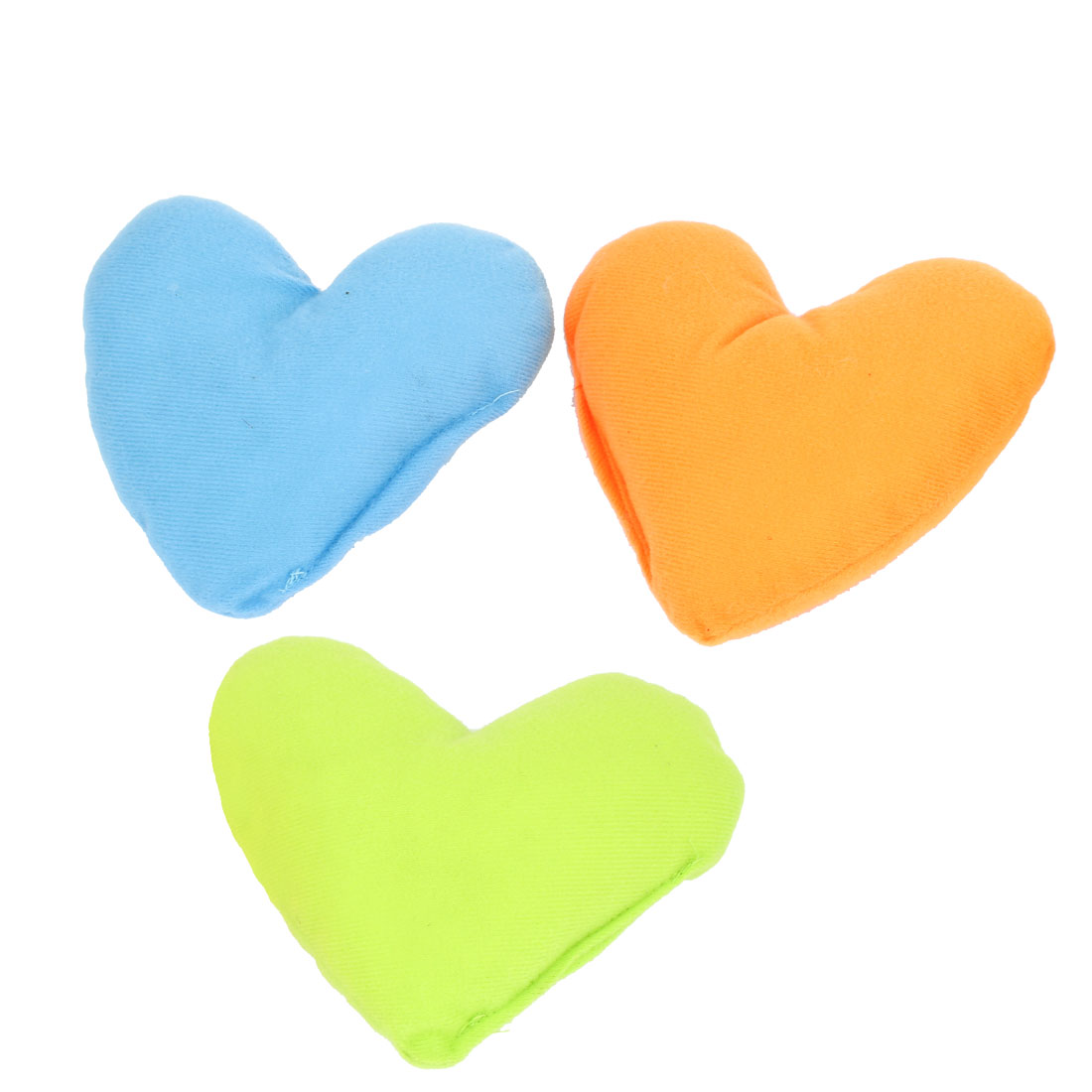 3pcs Blue Orange Green Fleece Heart Design Neck Pillow Cushion Pad for Pet Dog Doggy