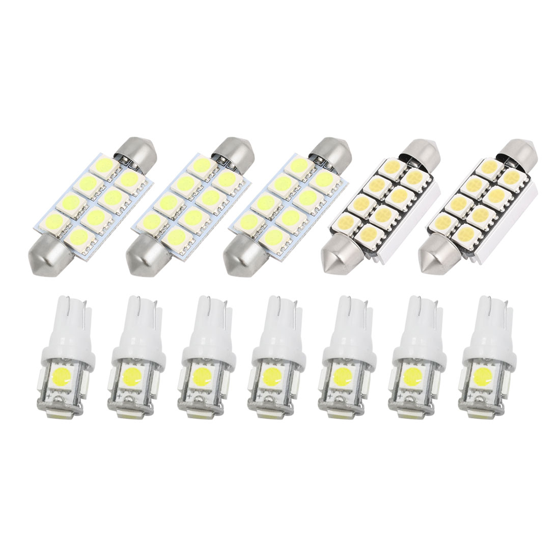 12 Pcs White LED Canbus Dome Light Interior Lamp Kit for 2002-2011 Dodge Ram