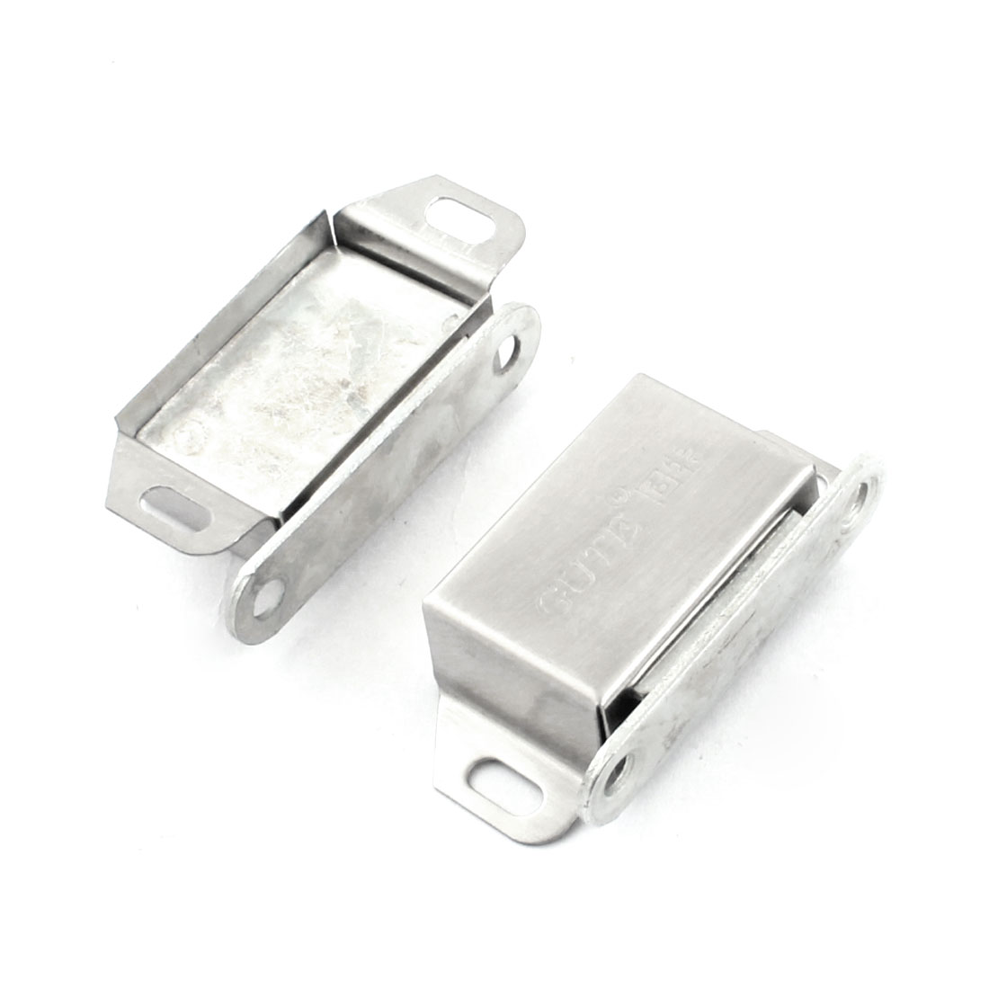 "2 Pcs Stainless Steel Cupboard Door Magnetic Catch Latch 2.1"" Length"