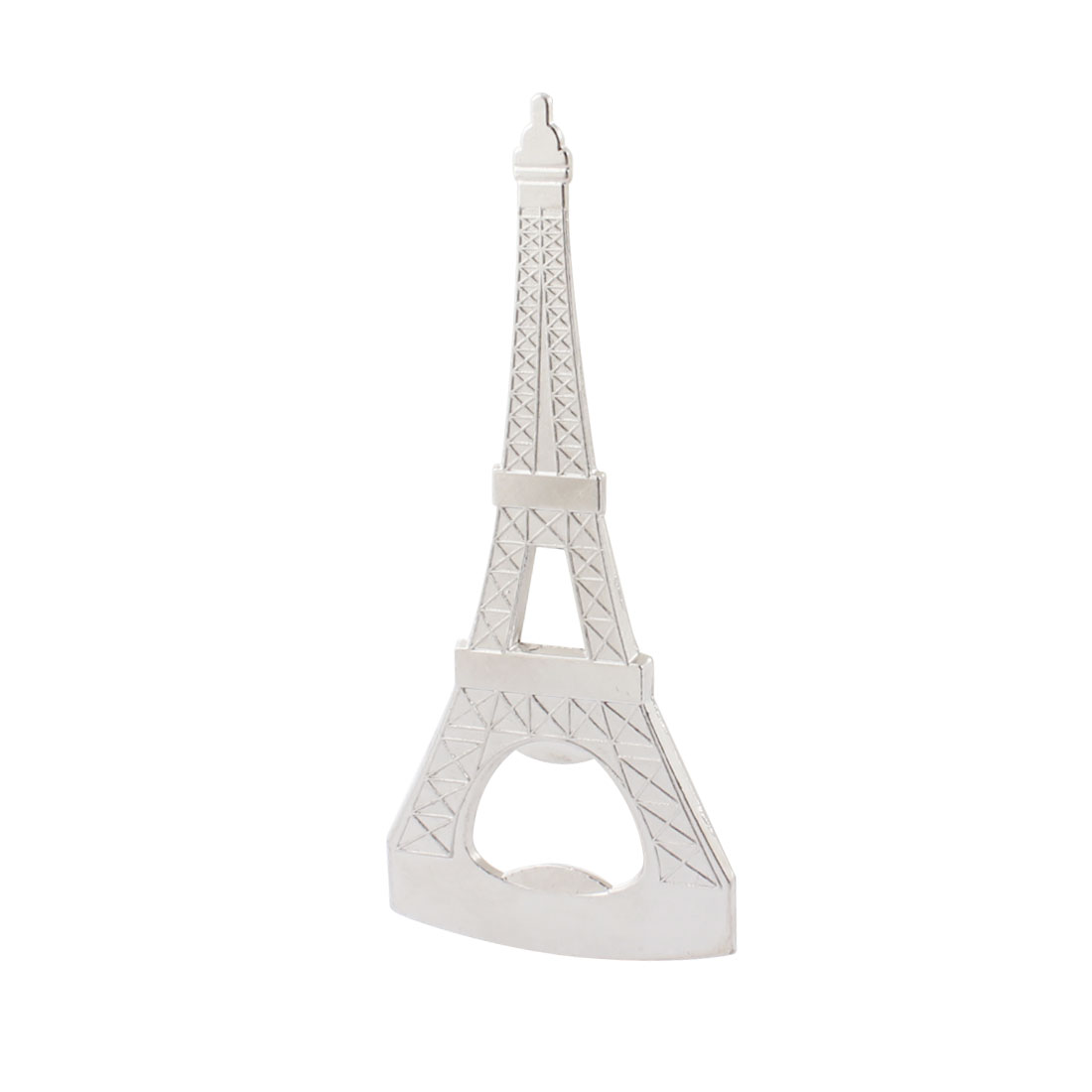 Household Sliver Tone Metal Eiffel Tower Shaped Beer Bottle Opener