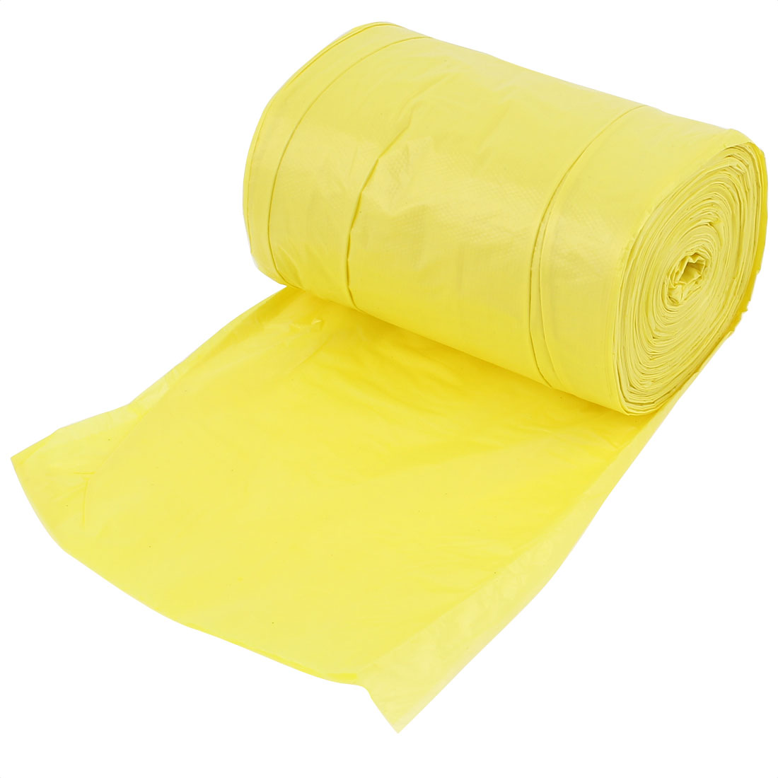 Kitchen Disposable Garbage Trash Waste Bag Yellow Roll 45cm x 55cm