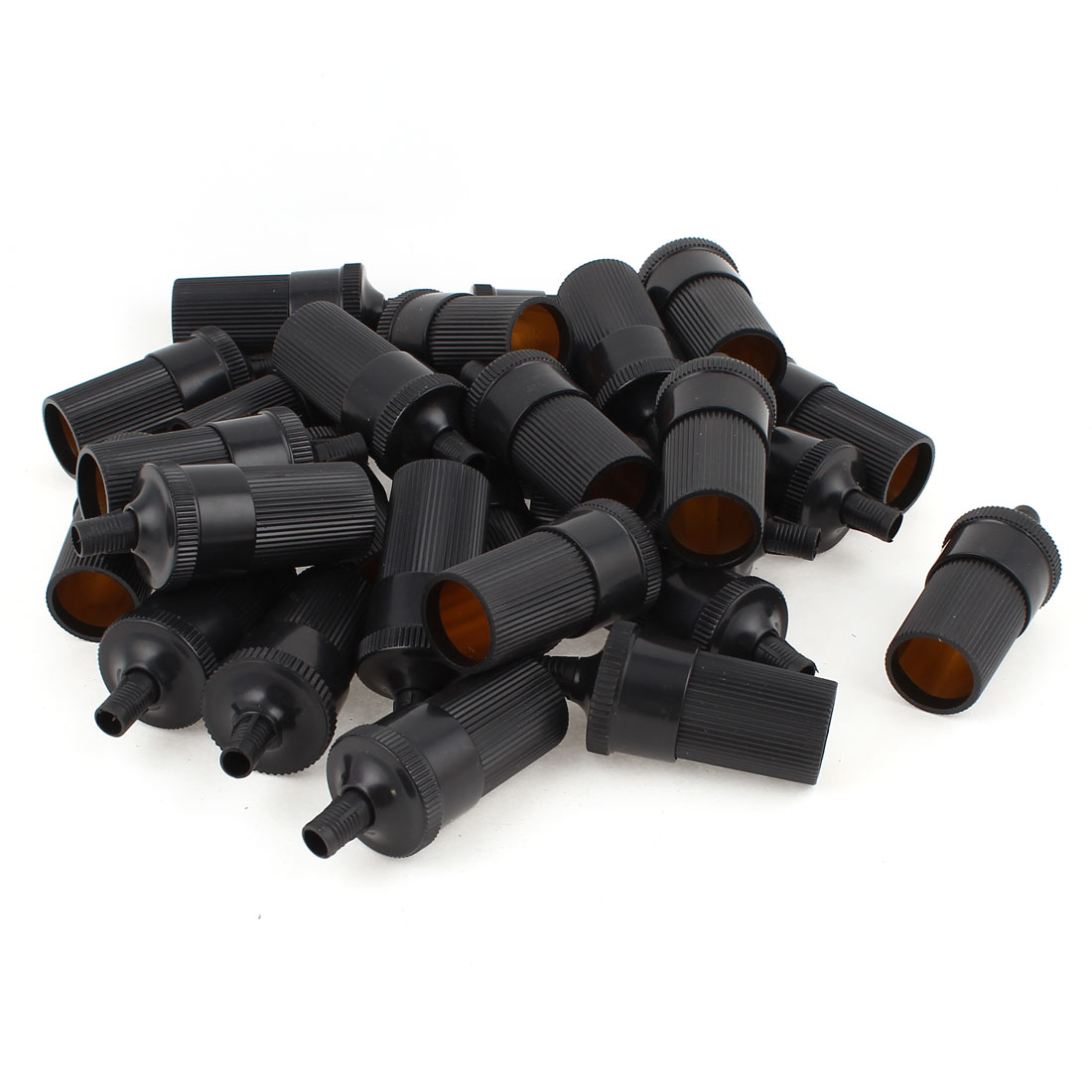 28pcs 7mm Dia Auto Inline Cigarette Lighter Socket Holder Female Adapter