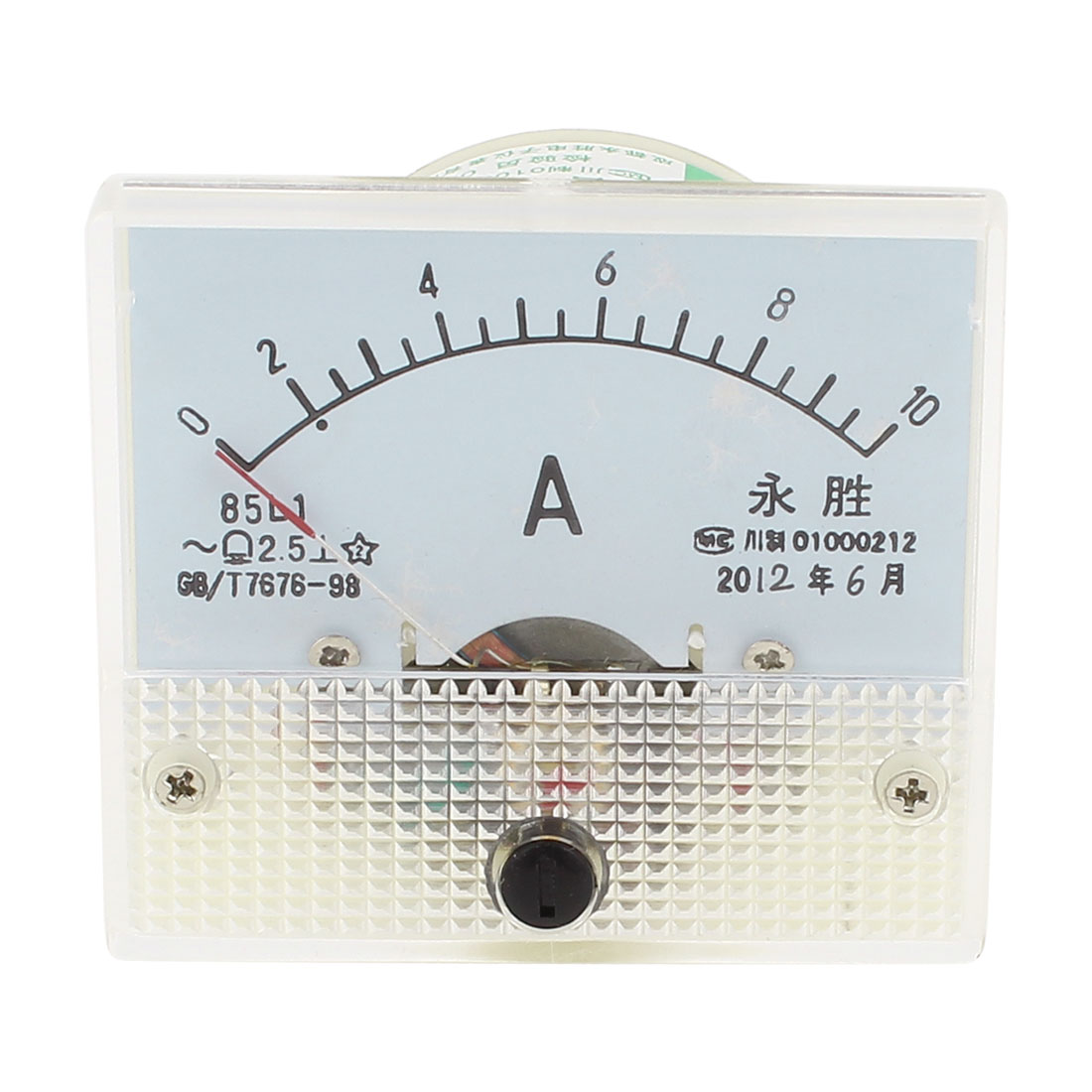AC 0-10A Current Range Analog Panel Meter Ammeter 85L1