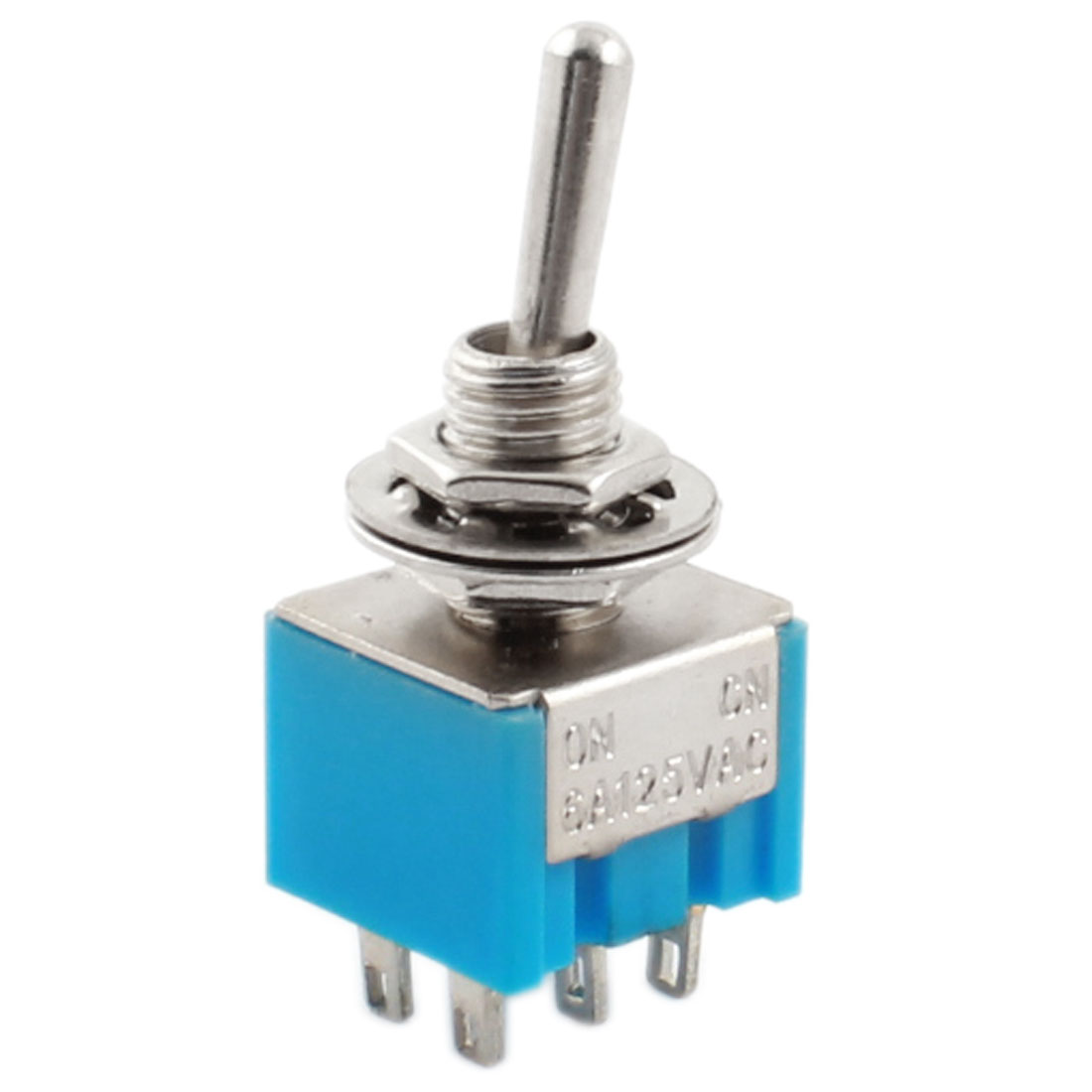 AC 125V 6A Rocker Type DPDT Latching 6 Terminals Toggle Switch