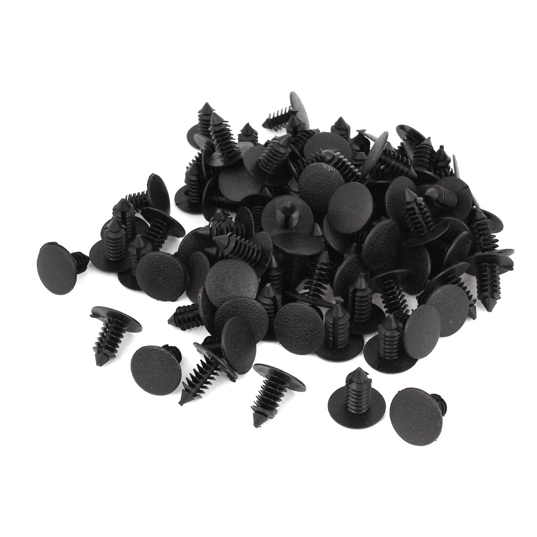 Black 7mm Hole Vehicle Car Door Plastic Rivet Fastener Trim Panel Retainer Clip 100pcs
