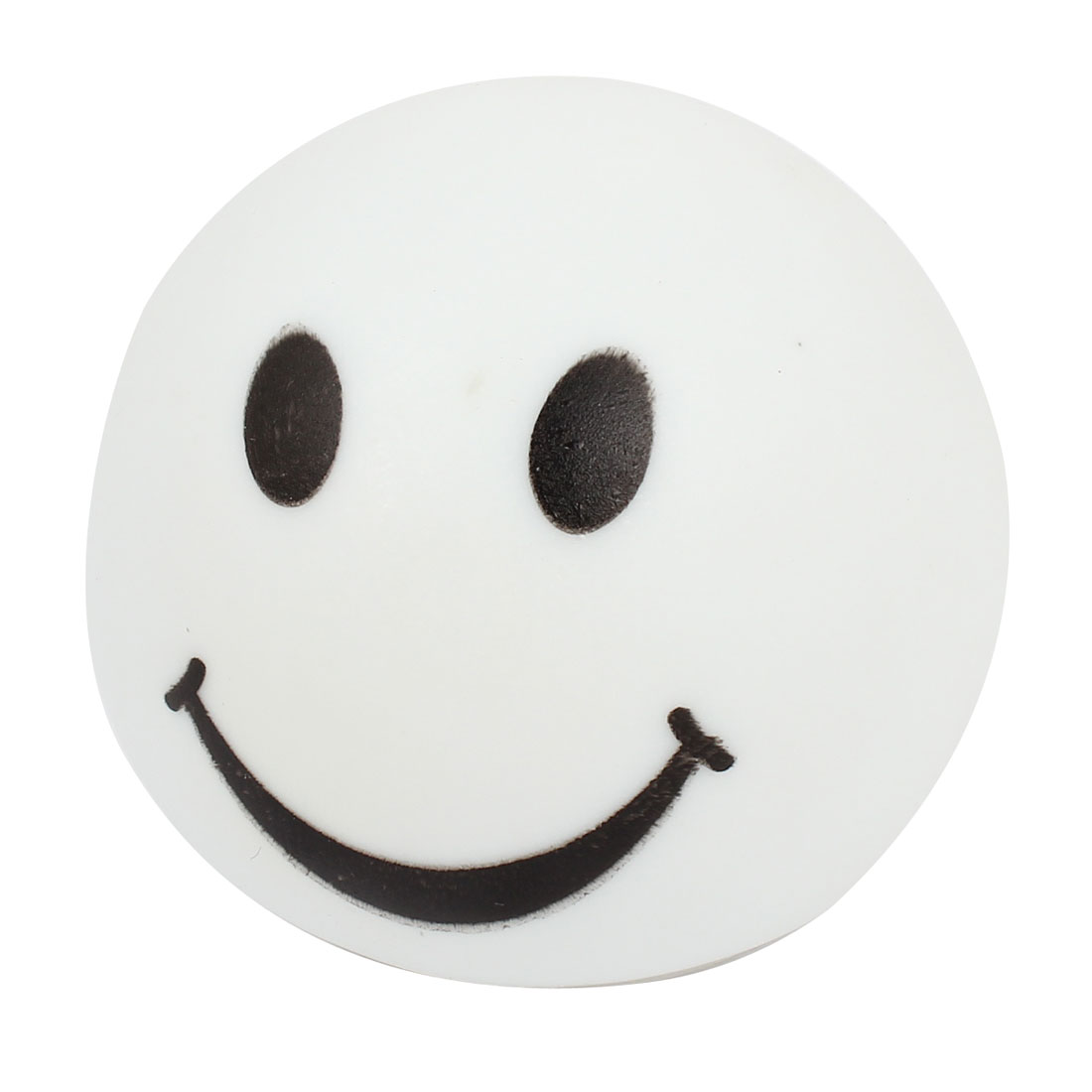 White Smile Face Print Round Colorful Changing LED Night Light Desk Lamp