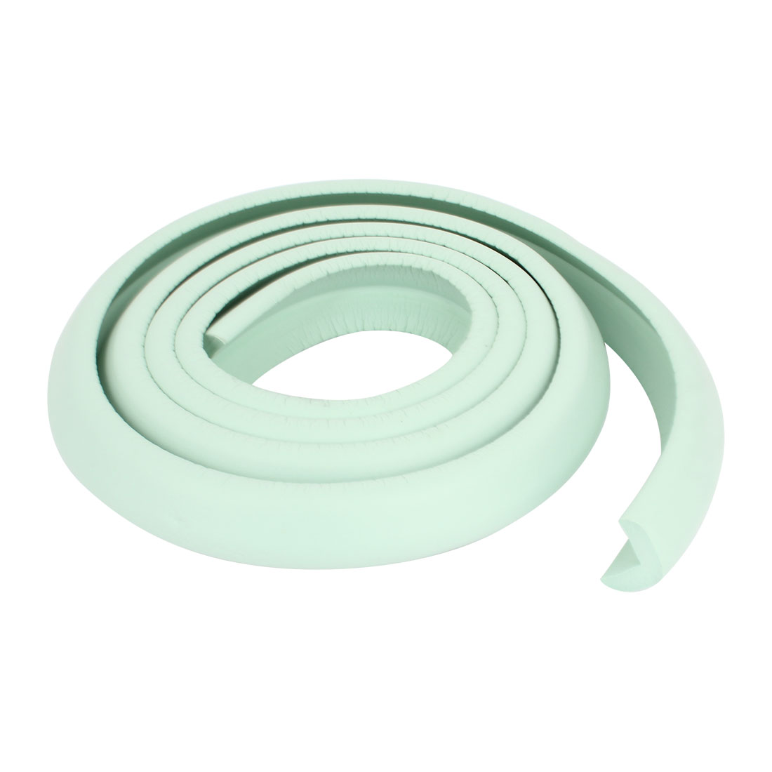 Soft Flexible Foam Table Corner Edge Protector Guard Strip 2M Long 3cm Width Light Green