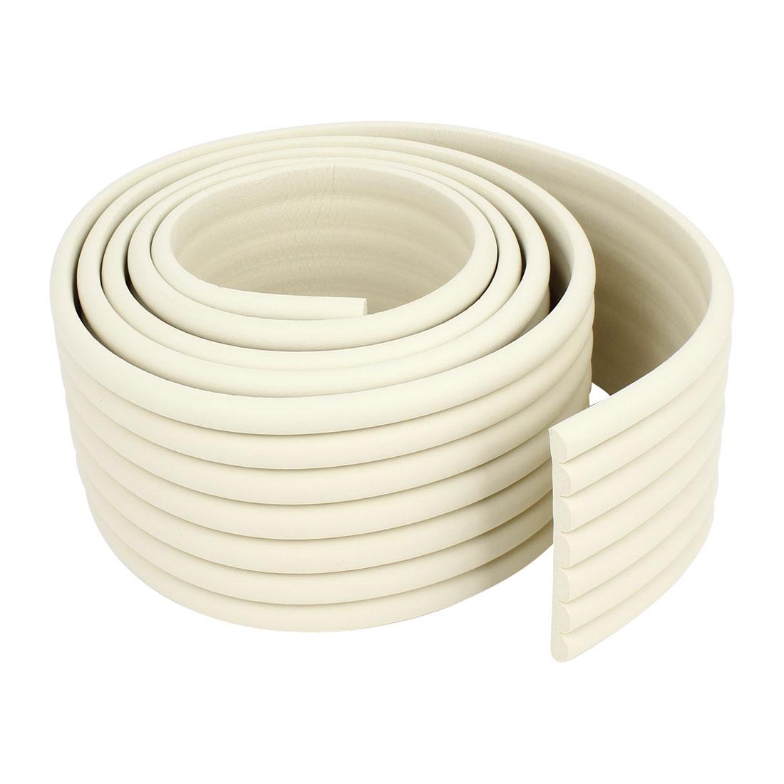 Off White Soft Flexible Foam Table Protector Corner Edge Guard Strip 2M Long 8cm Width