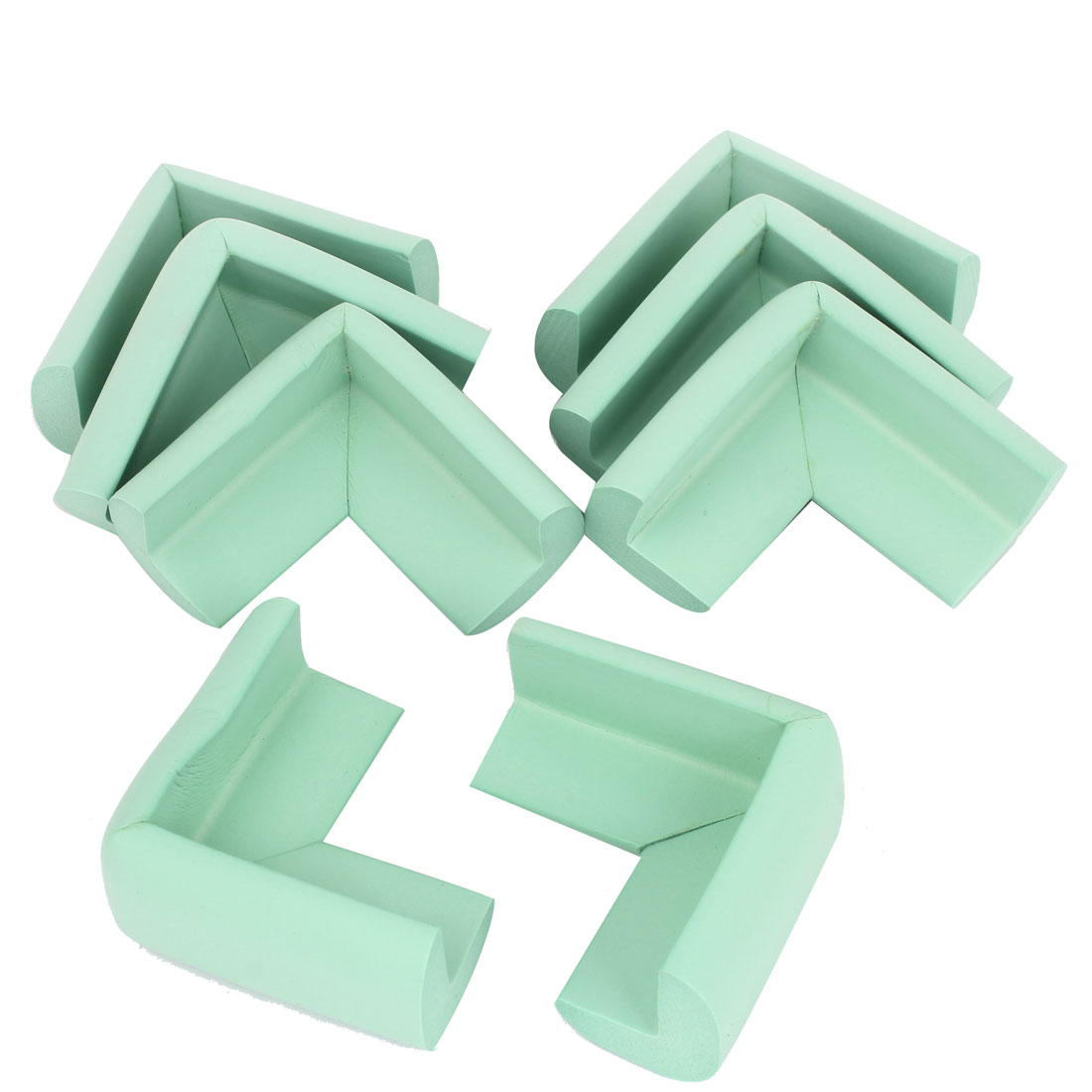 Foam Table Desk Cupboard Corner Mat Cover Guard Protector Cushion 8Pcs Light Green