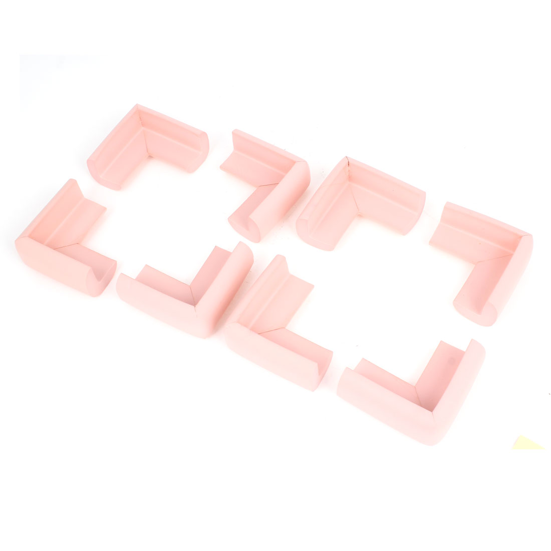 Pink Foam Table Cupboard Corner Cover Guard Protector Cushion 8Pcs