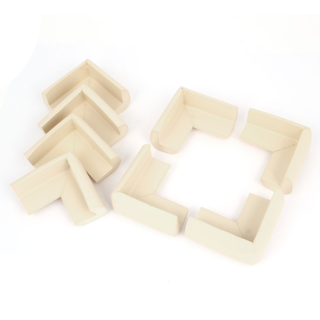 Off White Foam Table Cupboard Corner Cover Guard Protector Cushion 8Pcs