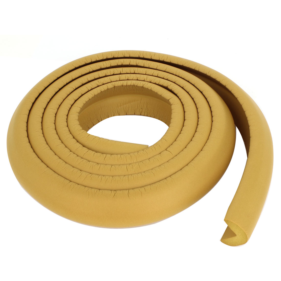 Khaki Soft Flexible Foam Table Edge Protector Corner Guard Strip 2M Long 3cm Width