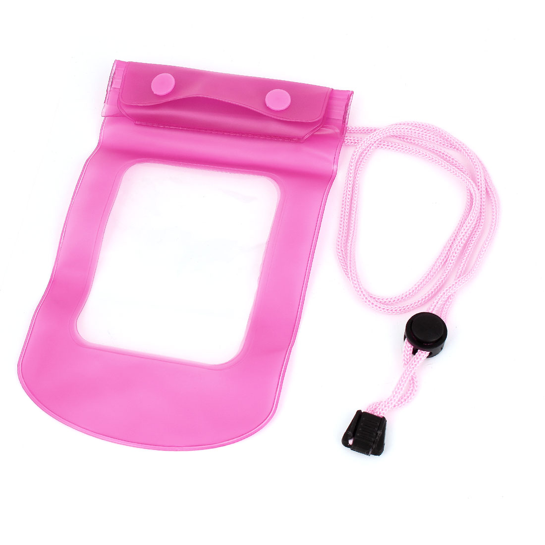 Fuchsia Water Resistant Bag Pouch + Neck Strap for iPhone3G 3GS 4 4G