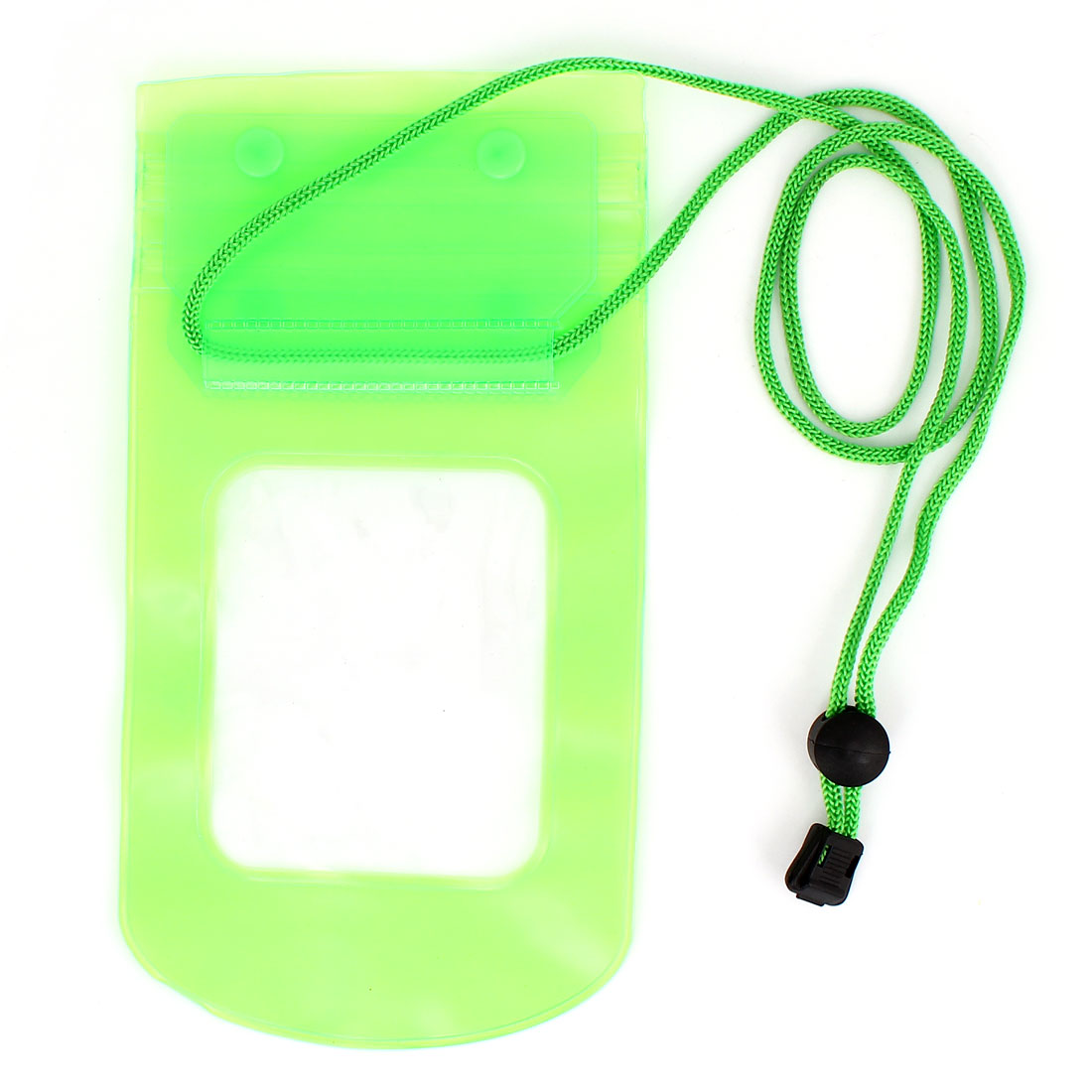 Green Plastic Water Resistant Bag Pouch + Neck Strap for iPhone 3G 3GS 4 4G