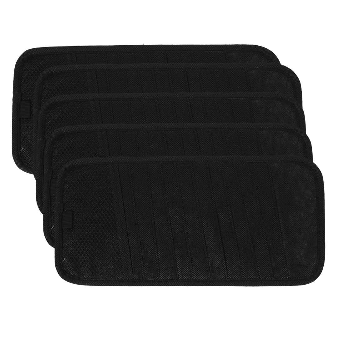 5 Pcs Non-woven 12 Compartments Sun Visor CD Sun Visor Holder Case Black