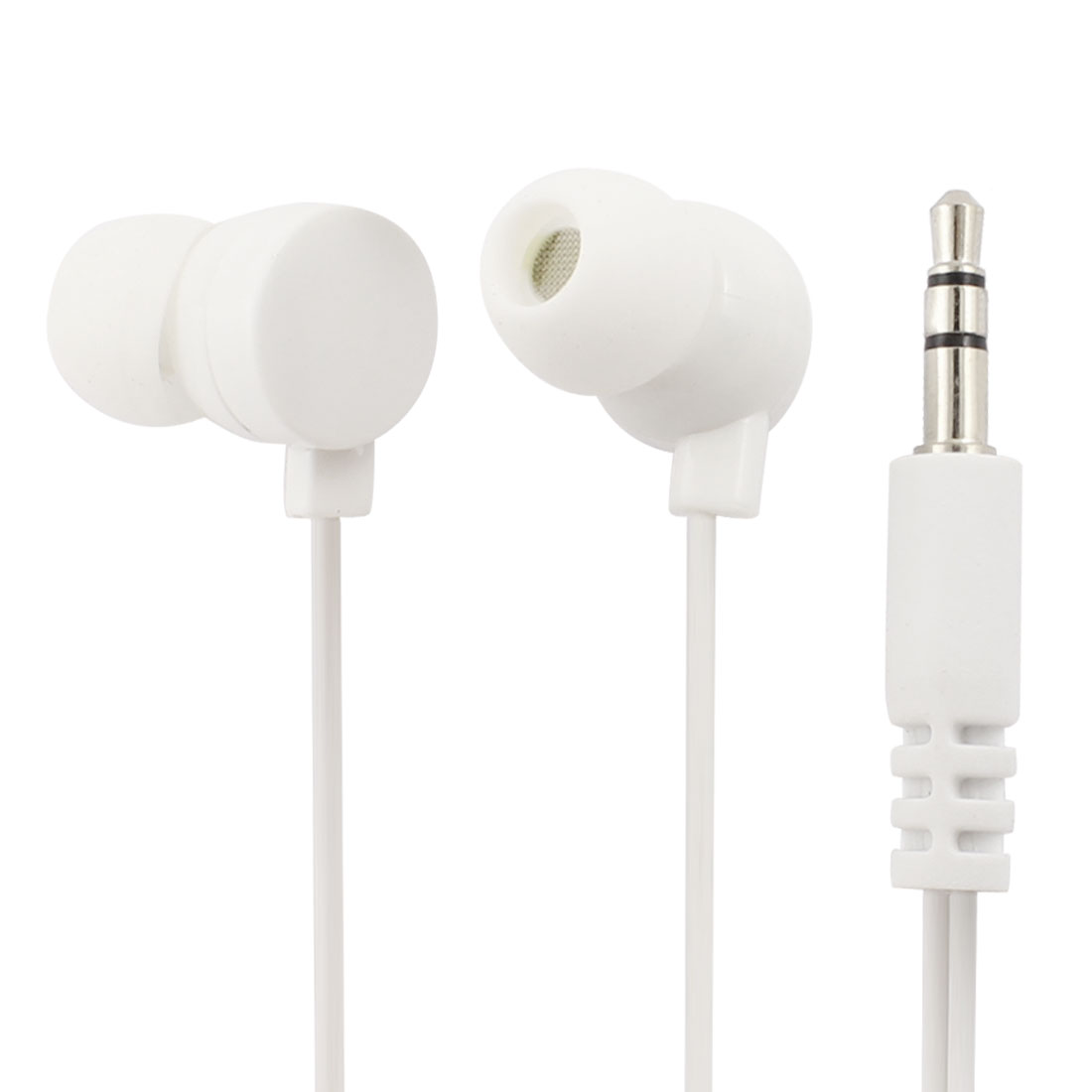 1.2M Cable 3.5mm In Ear Earphone White w Donut Winder for MP3 Smartphone