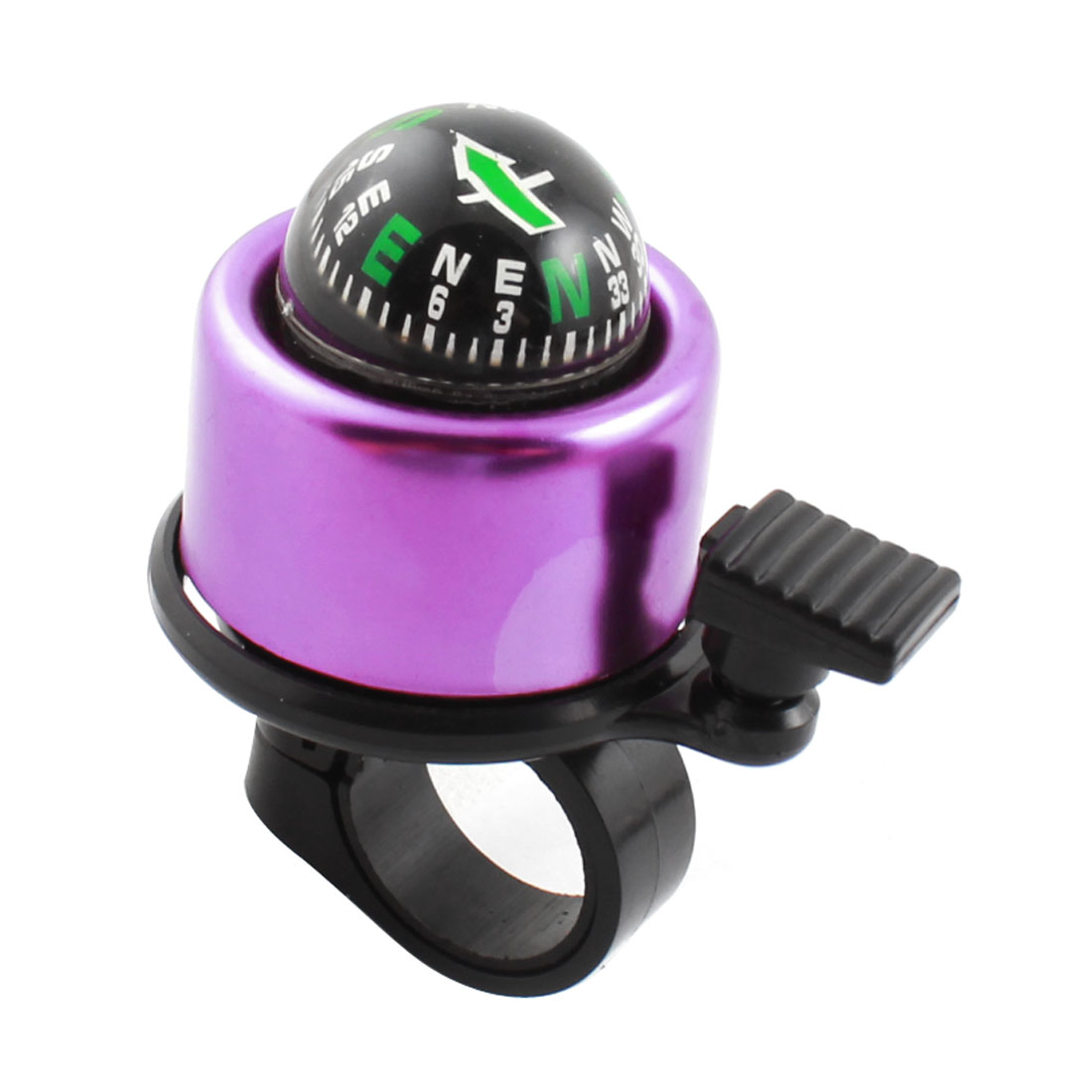 Bicycle Cycling Handlebar Compass Ring Bell Alarm Purple Black