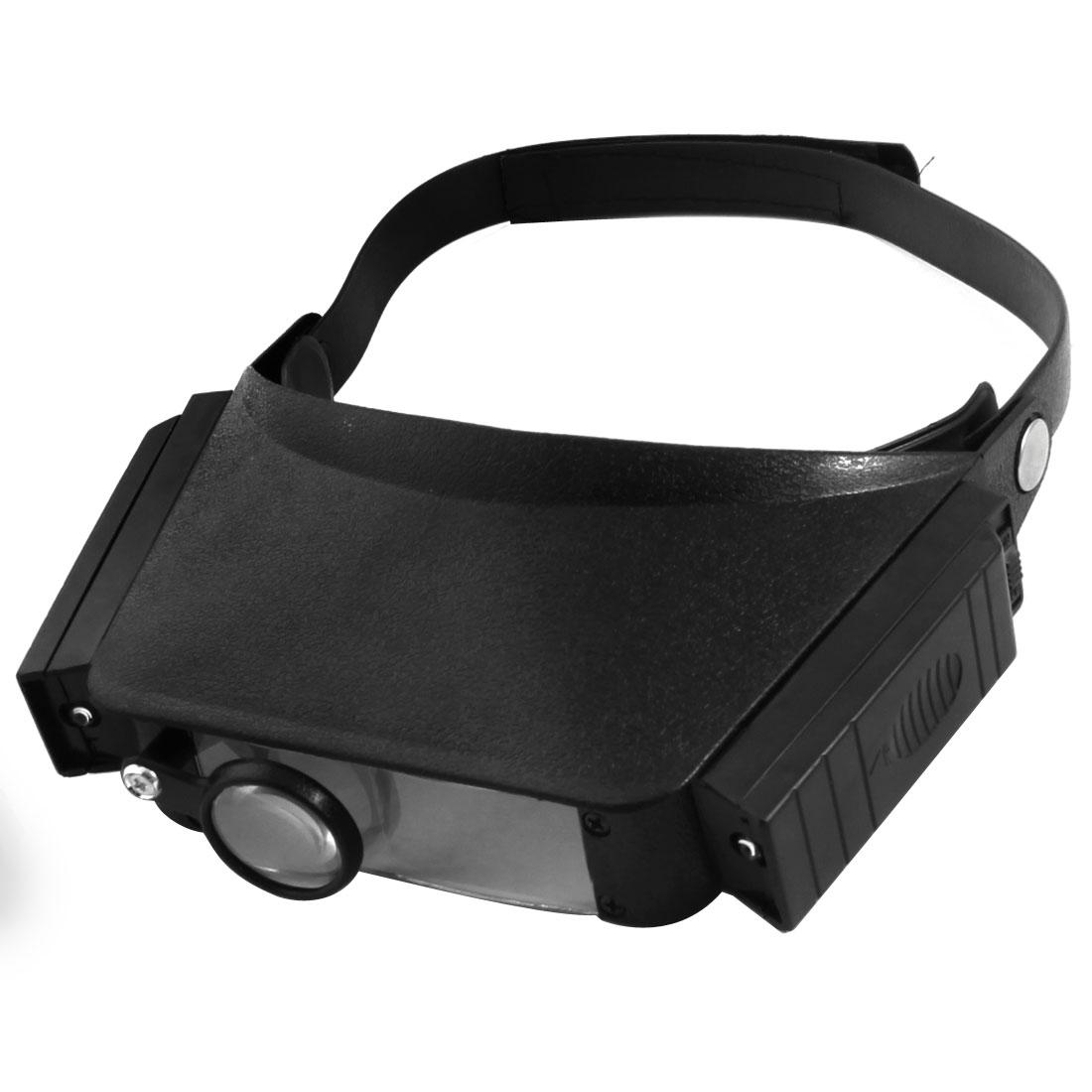 Headband LED Lamp Light Jeweler Magnifier Magnifying Glass Loupe 1.8X 2.3X 3.7X