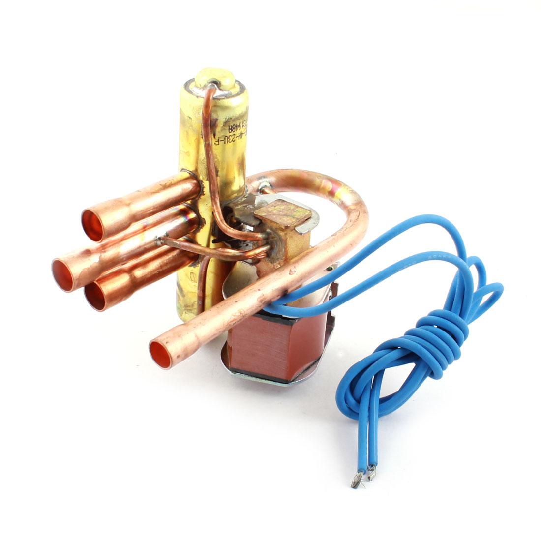 AC220V-240V 50/60Hz 4 Way 3Mpa Heat Pump Reversing Solenoid Valve