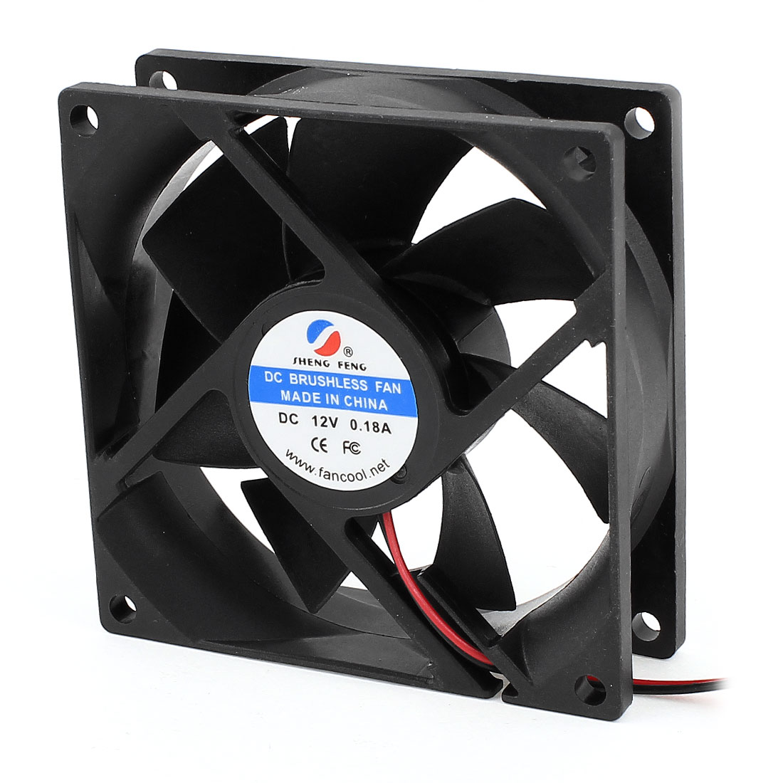 DC 12V 0.18A 80mm Cooling Fan Black for Computer Cases CPU Coolers Radiator