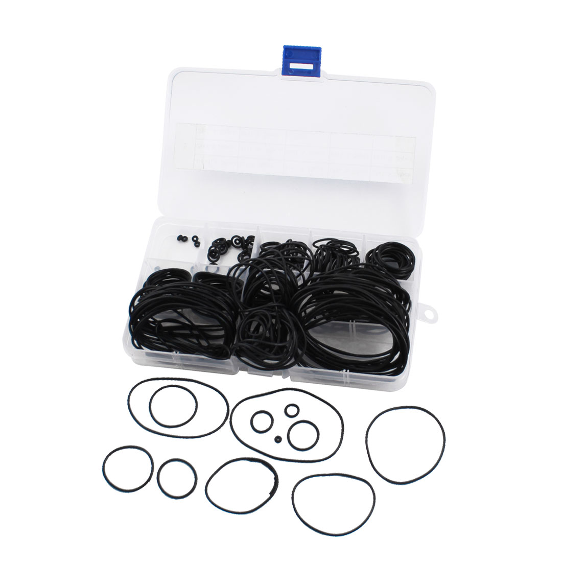 240Pcs Assortment 4.5mm-58mm OD 12 Size Rubber Oil Sealing O Ring Washer Gasket