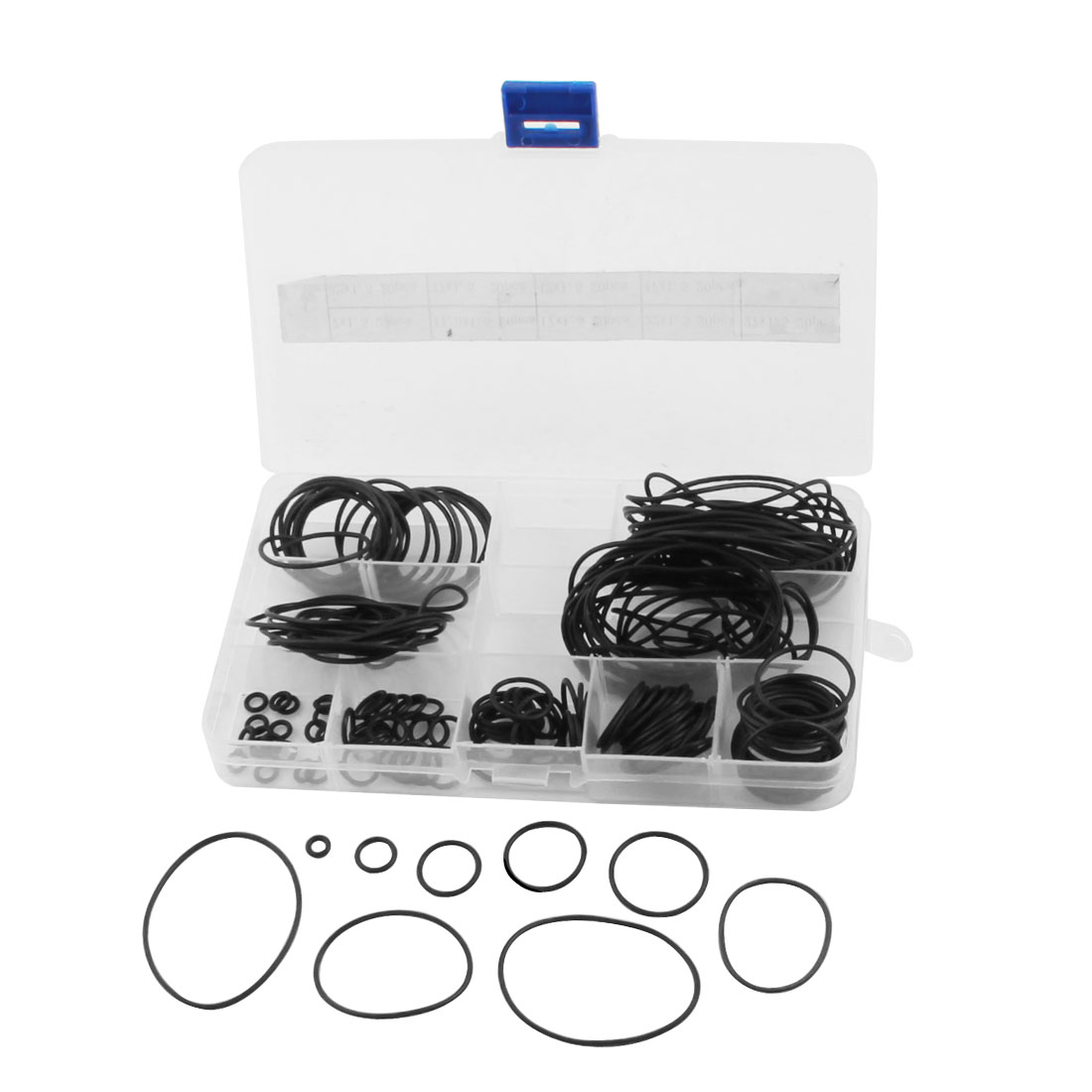 180Pcs Assortment 7mm-47mm OD 9 Size Rubber Oil Sealing O Ring Washer Gasket