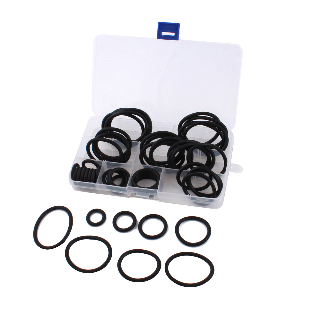50Pcs 8 Size 22mm-49mm OD 4mm Thickness OD Oil Seal O Rings Washer Set