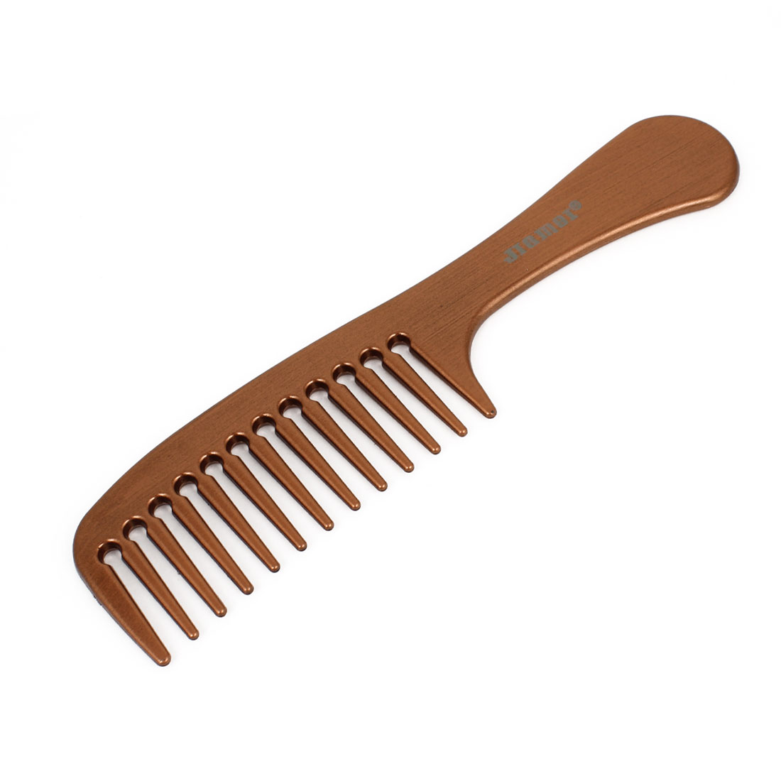 Copper Red Hairdressing Plastic Handle Wide Tooth Hair Comb for Lady