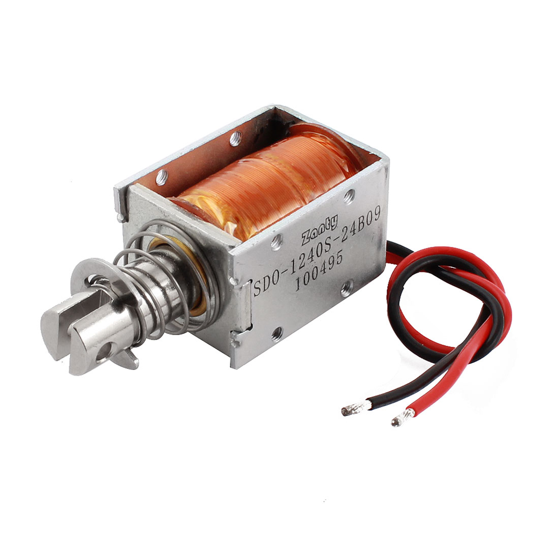 DC 24V 900g Force 10mm Stroke Linear Push Pull Type Solenoid Electromagnet