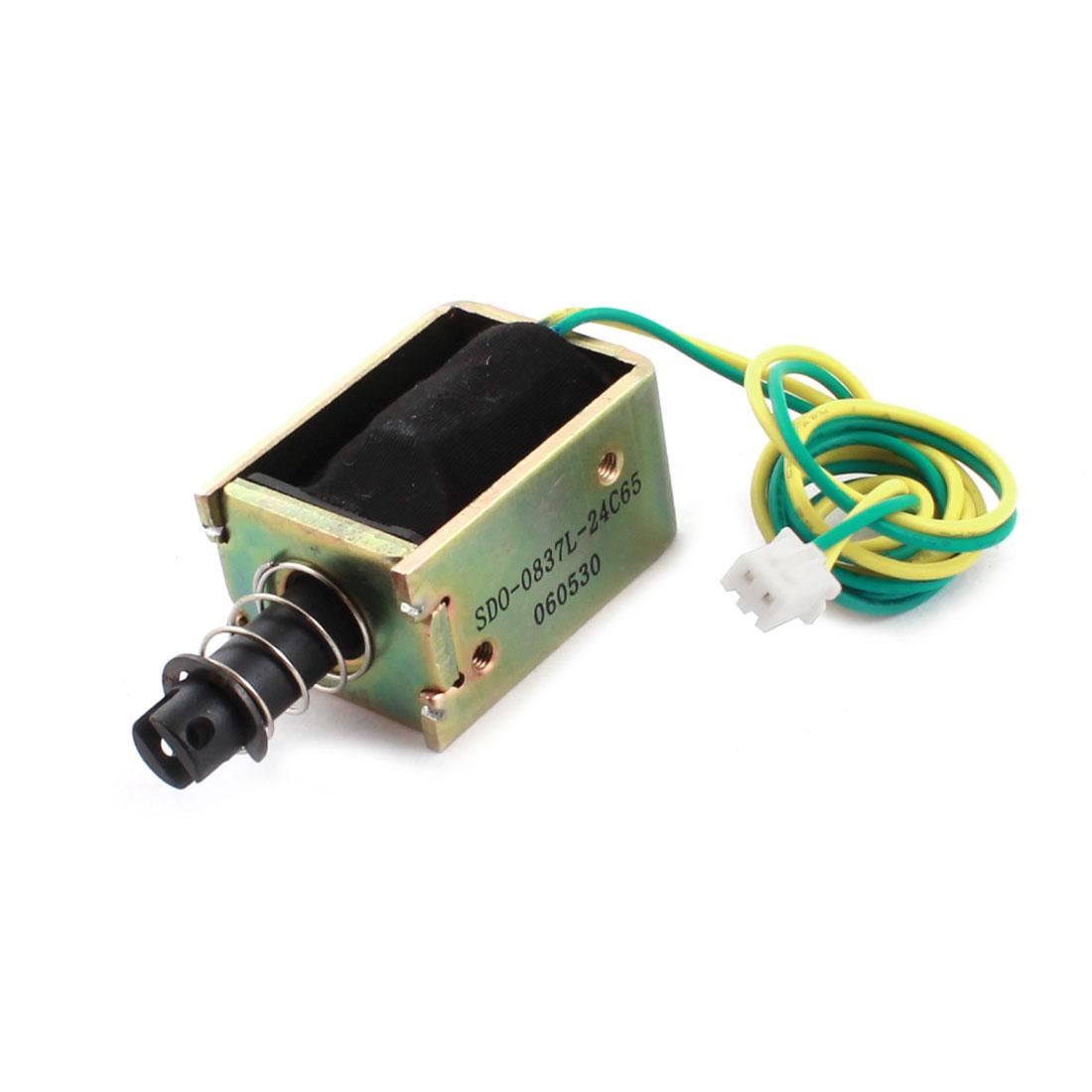 DC 24V 8.86W 400g/4mm Pull Open Frame Actuator Solenoid Electromagnet