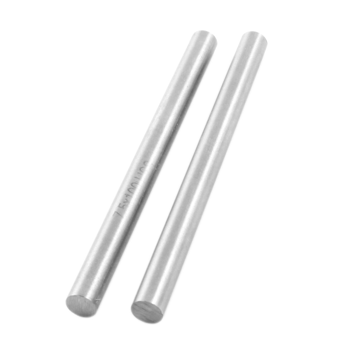 2Pcs 7.5mm x 100mm Silver Tone HHS Straight Machine Turning Tool Round Lathe Stick Rod
