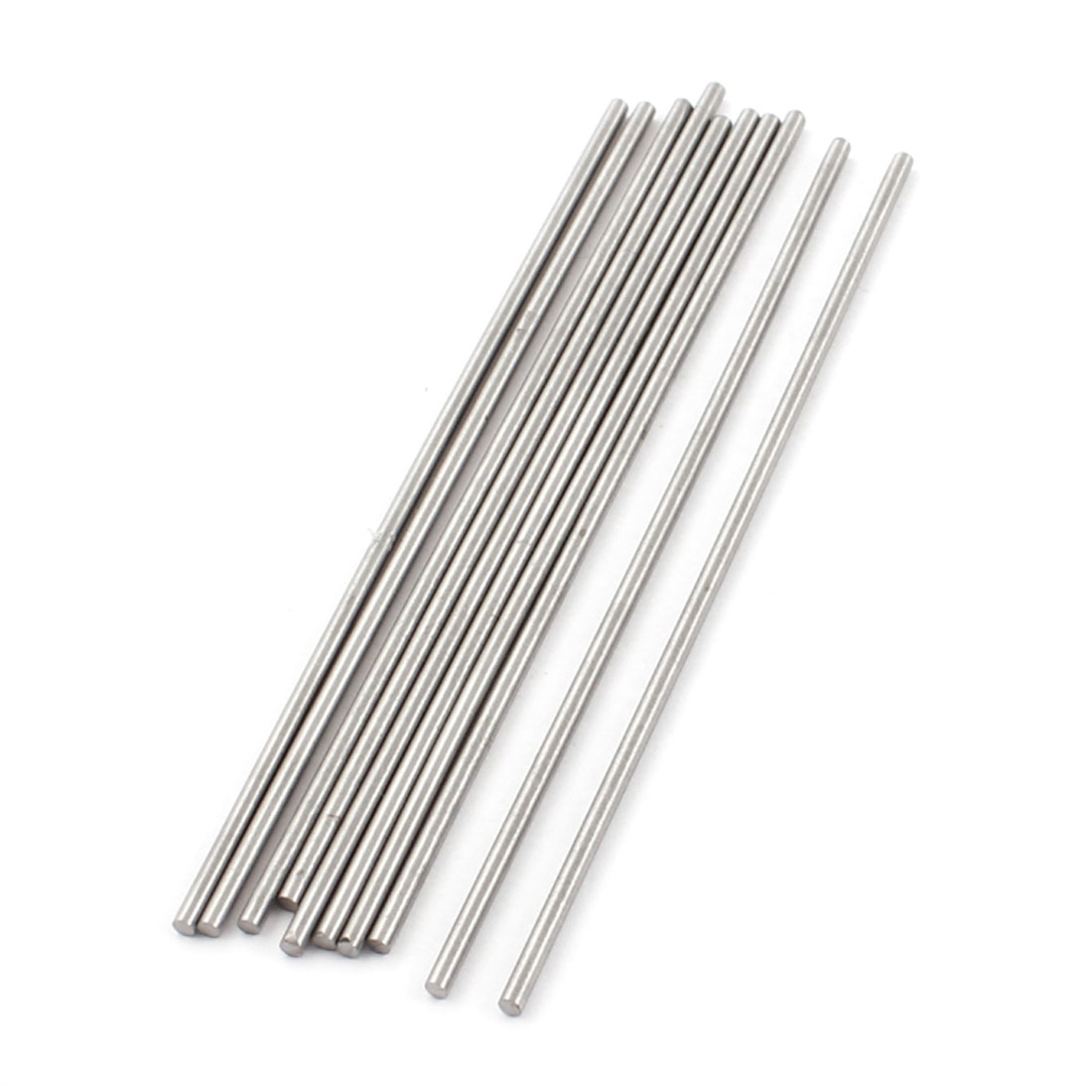 10Pcs 2mm x 100mm Silver Tone HSS Straight Machine Turning Tool Round Lathe Rod Bar Stick