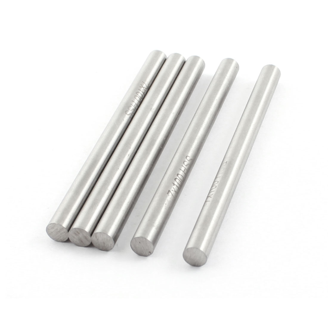 5 Pcs 7mm x 100mm Silver Tone High Speed Steel Straight Machine Turning Tool Round Lathe Bar Rod