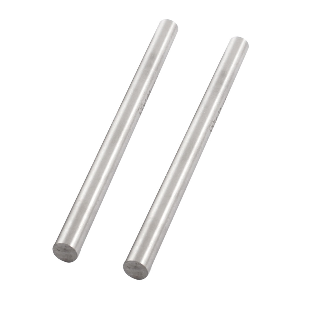 6.5mm x 100mm Straight HSS Machine Turning Round Lathe Bar Rod Silver Tone 2 Pcs