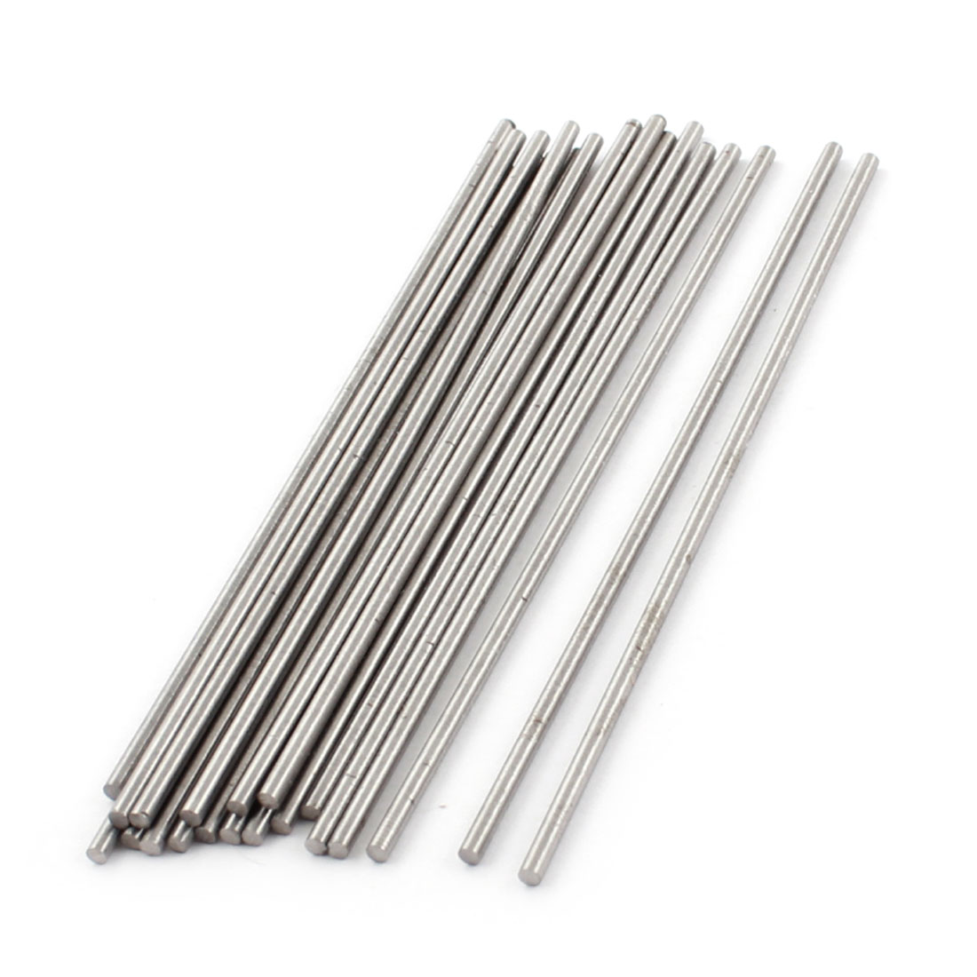 2mm x 100mm Silver Tone HSS Straight Machine Turning Tool Round Lathe Rod Bar 20Pcs