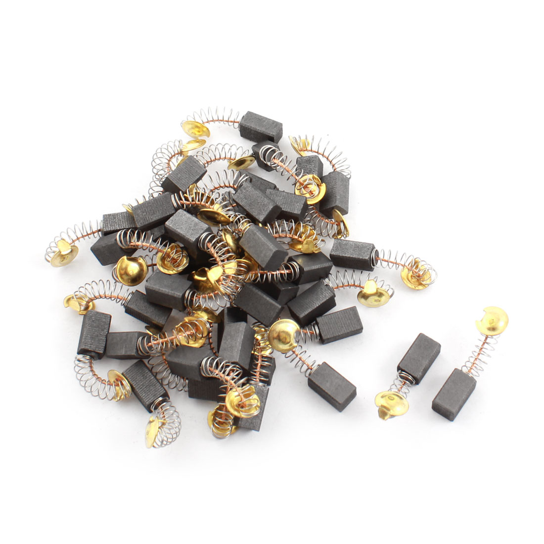 12mm x 7mm x 6mm Spring Type Electric Power Tool Motor Carbon Brushes Replacement 20 Pairs